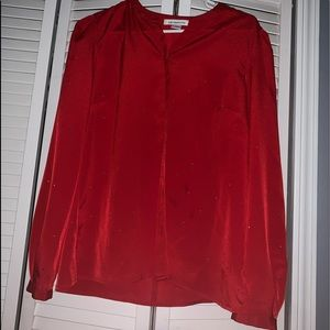 Beautiful cherry red blouse.
